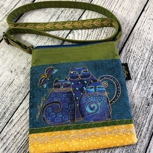 Laurel Burch, Cats, kitties, canvas crossbody bag